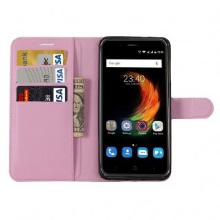 Tasche Wallet Premium Rosa für ZTE Blade A610 Plus Hülle Case Cover Etui Schutz - Vorschau 4