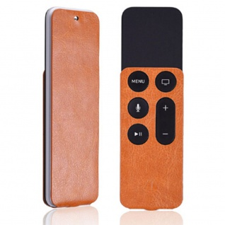 Kunstleder Tasche für Apple TV 4.Generation Orange Schutz Etui Tasche Zubehör