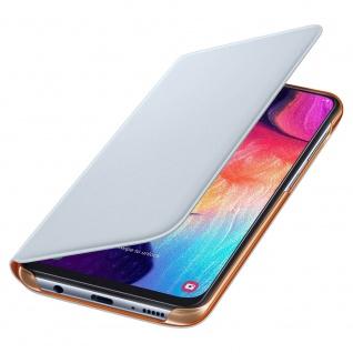 Wallet Cover für Samsung Galaxy A50 A505F 6.4 EF-WA505 Weiß Orange Tasche Hülle