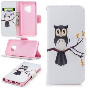 Tasche Wallet Book Cover Motiv 23 für Samsung Galaxy S9 Plus G965F Hülle Case
