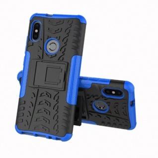 Für Xiaomi Redmi Note 5 Hybrid Case 2teilig Outdoor Blau Tasche Hülle Cover Etui