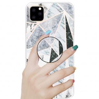 Schutzhülle Cover für Apple iPhone 11 Polytriangle 3D Marble TPU Silikon Tasche