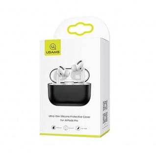 USAMS Apple AirPods Pro Cover Schwarz Schutzhülle Tasche Case Etui