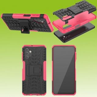 Für Samsung Galaxy A32 5G Hybrid Case Outdoor Pink Handy Tasche Etuis Hülle Neu