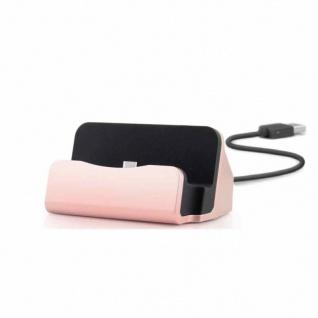 Dockingstation Sync Lade Dock Tischladestation für Micro USB Smartphones Pink