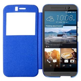 Smartcover Window Blau für HTC One 3 M9 Tasche Cover Case Hülle Etui Zubehör Neu