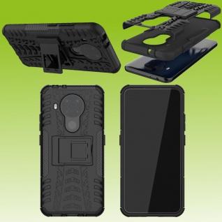 Für Nokia 5.4 Outdoor Schwarz Handy Tasche Etuis Hülle Cover Case Schutz Zubehör