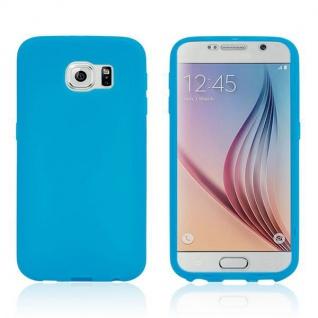 Design Cover mit Frontabdeckung Blau für Samsung Galaxy S6 G920 G920F Tasche Neu