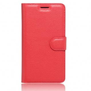 Tasche Wallet Premium Rot für Huawei Honor 6C Hülle Case Cover Etui Schutz Neu - Vorschau 3