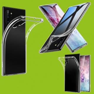 Für Samsung Galaxy Note 10 Plus Silikon TPU Transparent Tasche Hülle Etuis Case