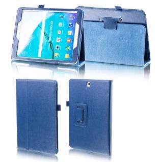 Für Samsung Galaxy Tab S4 10.5 T830 T835 Dunkelblau Kunstleder Cover Tasche Neu