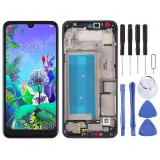 Für LG Q60 Double SIM Schwarz Display LCD Einheit Touch mit Rahmen Ersatz Neu