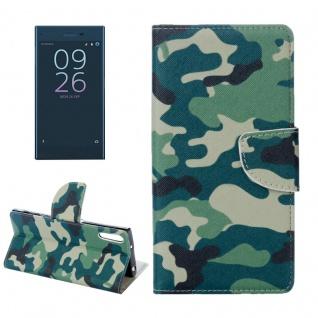 Tasche Wallet Premium Muster 18 für Sony Xperia XZ F8331 Bookcover Hülle Case