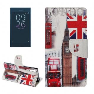 Tasche Wallet Premium Muster 19 für Sony Xperia XZ F8331 Bookcover Hülle Case
