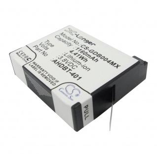 X-Longer Akku Batterie Battery für GoPro Hero 4 ersetzt 335-06532-000 Ersatzakku - Vorschau 2