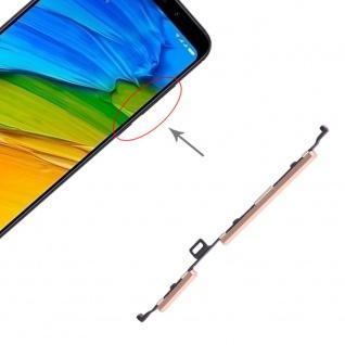Power & Lautstärke Button Gold für Xiaomi Redmi 5 Plus Zubehör On Off Ersatzteil
