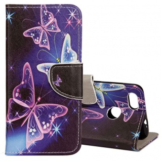 Tasche Wallet Book Cover Motiv 22 für Huawei P Smart Hülle Case Etui Schutz Neu