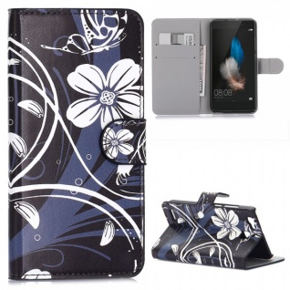Schutzhülle Muster 35 für Huawei P9 Bookcover Tasche Case Hülle Wallet Etui Neu