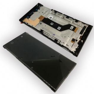 Sony Display LCD Komplett mit Rahmen für Xperia XA1 Ultra G3212 Schwarz Ersatz