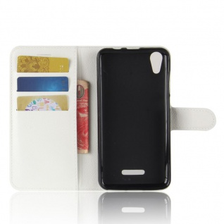 Tasche Wallet Premium Weiß für Wiko Lenny 4 Hülle Case Cover Etui Schutz Neu Top - Vorschau 3