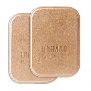 4smarts Universal Metallplättchen UltiMAG 2x Kunstleder für Halterung usw. gold