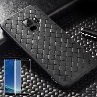 Für Samsung Galaxy S9 Original ROCK Silikon Case Tasche Hülle Schwarz + 4D Glas