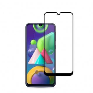 Für Samsung Galaxy M31 M315 2x 3D Display Full H9 Hart Glas Schwarz Folie Panzer