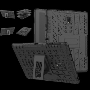 Hybrid Outdoor Schutz Hülle Schwarz für Samsung Galaxy Tab S4 10.5 T830 Tasche