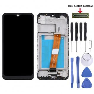 Für Samsung Galaxy A01 A015F Display Full LCD + Rahmen Touch Ersatzteil Schwarz