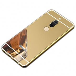 Spiegel / Mirror Alu Bumper 2teilig Gold für Huawei Honor View 10 V10 Tasche Neu