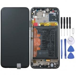 Huawei Display LCD Pack Rahmen für P40 Lite Service 02353KFU Schwarz Batterie