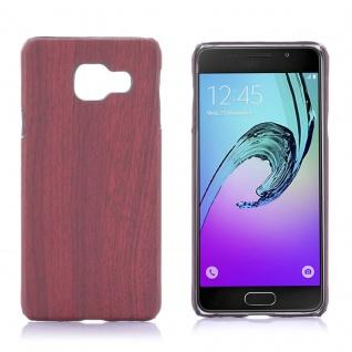 Hardcase Holz-Optik Dunkel Hülle für Samsung Galaxy A3 2016 A310F Case Tasche