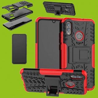 Für Samsung Galaxy A40 A405F Hybrid Case 2teilig Outdoor Rot Tasche Hülle Etuis