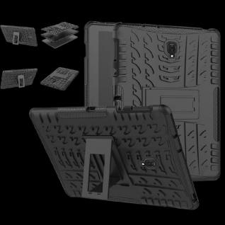 Hybrid Outdoor Schutz Hülle Schwarz für Samsung Galaxy Tab A 10.5 T590 Tasche