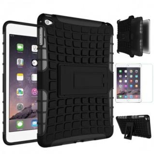 Hybrid Outdoor Schutzhülle Schwarz für iPad Pro 12.9 Tasche + 0.4 H9 Panzerglas