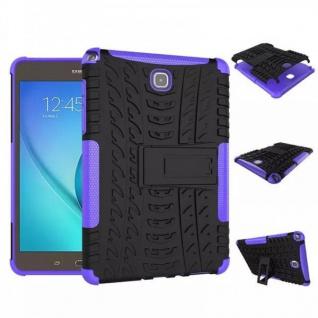 Hybrid Outdoor Schutzhülle Cover Lila für Samsung Galaxy Tab A 9.7 T550 Tasche