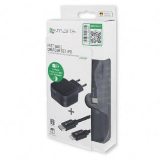 Universal Ladegerät 18W USB Typ C + Lightning 50% schneller Lade Stecker Kabel - Vorschau 4
