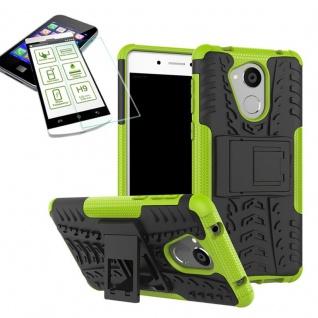 Hybrid Case Tasche Outdoor 2teilig Grün für Huawei Honor 6C Hülle Hartglas Neu