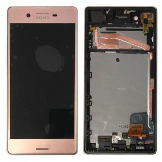 Sony Display LCD Komplett mit Rahmen für Xperia X F5121 F5122 Pink Ersatzteil