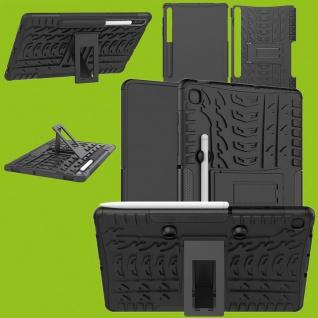 Für Samsung Galaxy Tab S6 Lite Outdoor Hybrid Schwarz Tablet Tasche Etuis Hülle