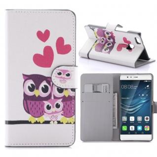 Schutzhülle Muster 58 für Huawei P9 Lite Bookcover Tasche Case Hülle Wallet Etui