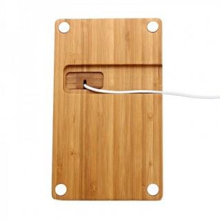 Docking Station Ladestation Bambus Tisch Ständer für iPad iWatch iPhone 5 6 6S + - Vorschau 4