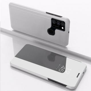 Für Samsung Galaxy A21s View Smart Cover Hülle Silber Handy Tasche Etuis Wake UP