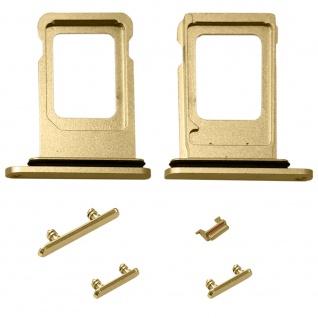4 in 1 Simkarten Halter für Apple iPhone Xr Gold SD Card Tray Ersatzteil Zubehör