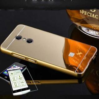 Alu Bumper 2 teilig Gold + 0, 3 H9 Glas für Xiaomi Redmi 5 Tasche Hülle Case Neu