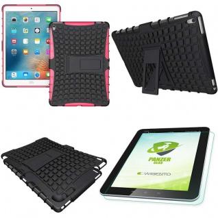 Hybrid Outdoor Schutzhülle Pink für iPad Pro 9.7 Tasche + 0.4 H9 Hartglas Case