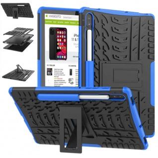 Für Samsung Galaxy Tab S6 10.5 T860 Outdoor Hybrid Blau Tasche Etuis Hülle Case