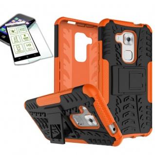 Hybrid Case Tasche Outdoor 2teilig Orange für Huawei Nova Plus + Hartglas Neu