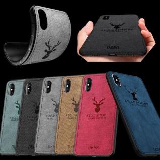 Hochwertige Design Tasche Silikon Kunstleder für Smartphones Hülle Case Etui Neu