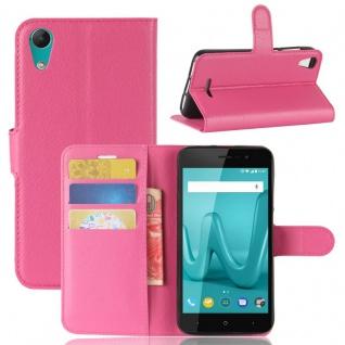 Tasche Wallet Premium Pink für Wiko Lenny 4 Hülle Case Cover Etui Schutz Neu Top